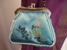 Turquoise Brocade Purse